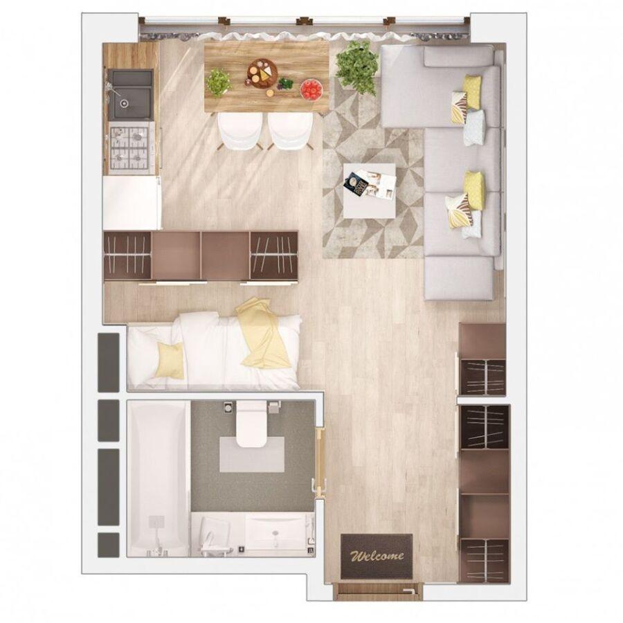 продажа однокомнатной квартиры номер A-149682 в Киевском районе, фото номер 2